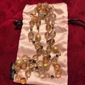 MaryKay gold & pink beaded necklace